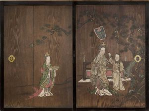 Obverse: Queen Mother of the West; Reverse: Pine Tree and Autumn Leaves Pair of Doors (Sugito)