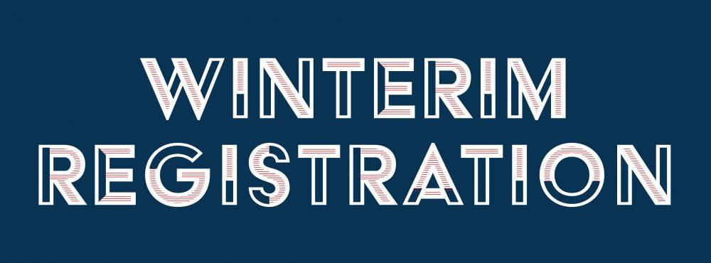 Winterim Registration Begins Oct. 1