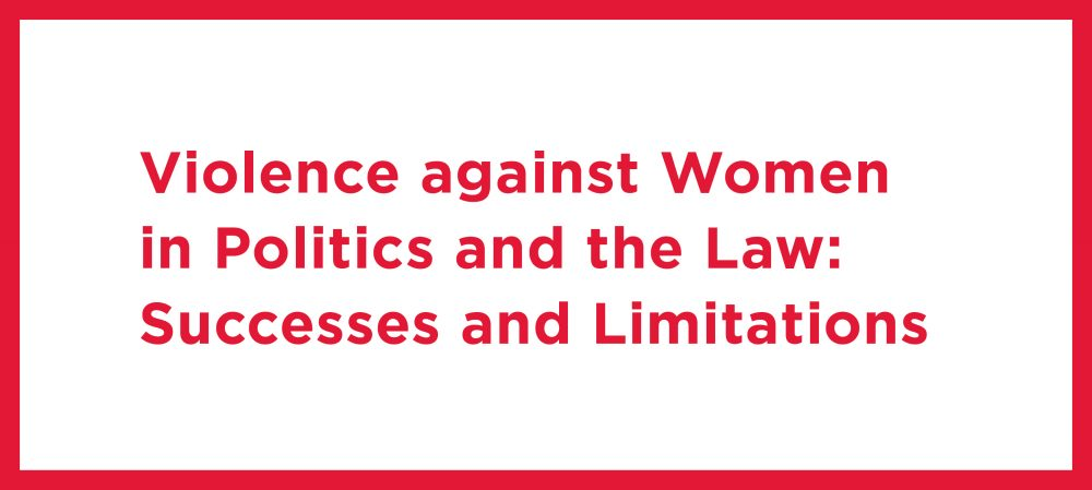 Violence against Women in Politics and the Law