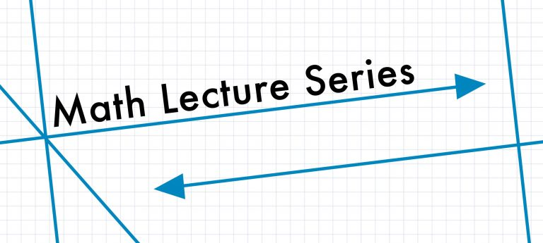 The Math Lecture Series Continues Mar. 23