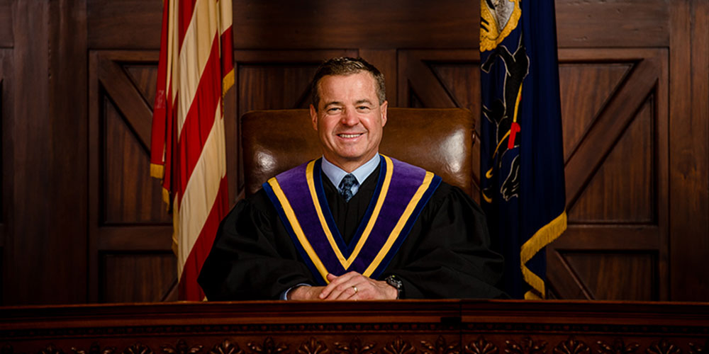 Justice David N. Wecht in the Penn Supreme Courtroom
