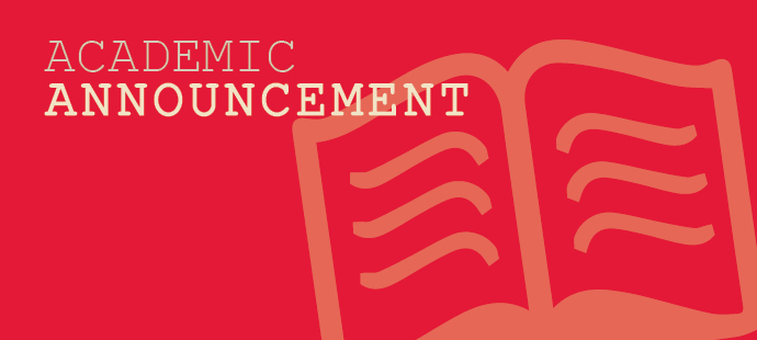 Academic Announcement