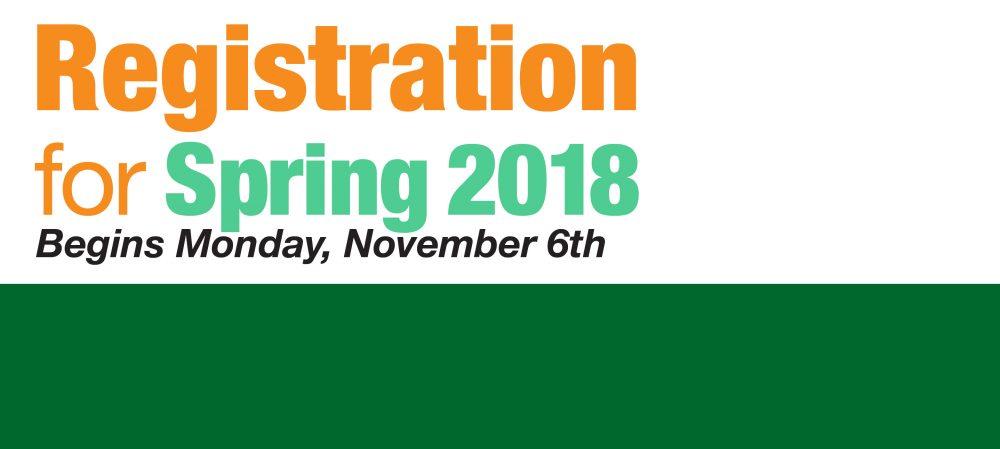 Spring 2018 Registration