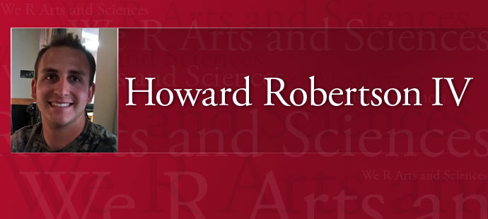 We R Arts and Sciences: Howard Robertson IV