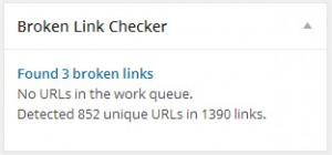 Broken Link Checker box